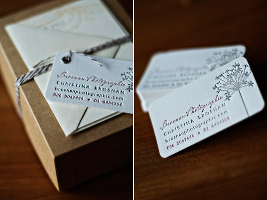 Photographer business cards, Etsy, Invited Ink, Letterpress