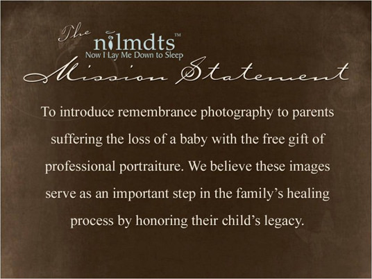 NILMDTS foundation, rememberance photography, charity, mission statement