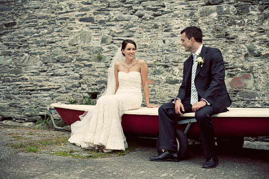 Boat Wedding Portraits, Cork Wedding Photographer
