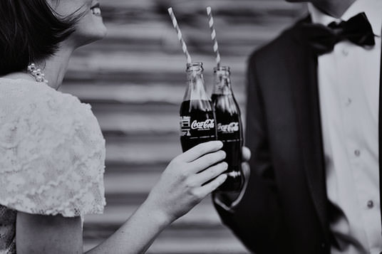 Coca Cola Vintage Wedding Photos