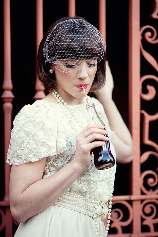 London Bride drinking Cola