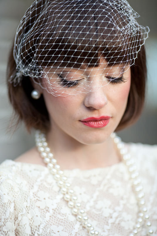 Vintage Birdcage Veil, London Wedding Photographer