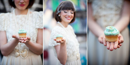 Vintage styled Wedding Shoot with cupcakes