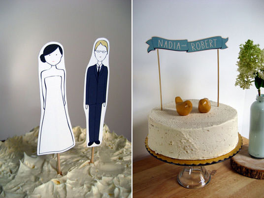 Or these Custom Wedding Cake Toppers from Ready Go