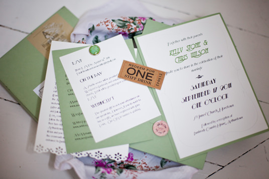 Paperchase Wedding Invitations: Vintage Style Wedding In Dunbrody House